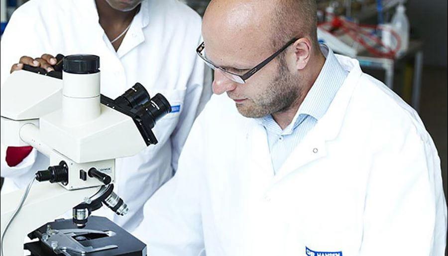 Chr Hansen employees in lab
