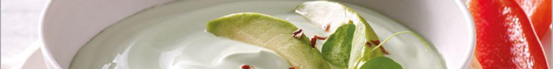 Green yogurt with avocado