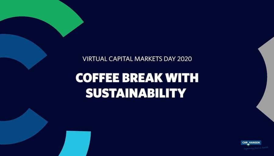 CMD 2020 Coffee break with Sustainability
