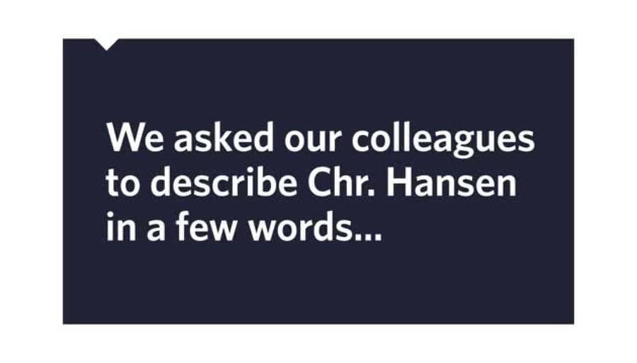The people of Chr. Hansen